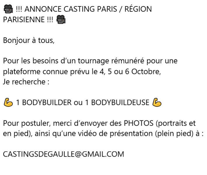Annonce catsing